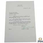 Francis Ouimet Signed 1966 Letter to Col. Otto Probst Thanking for HoF Induction Notice JSA ALOA