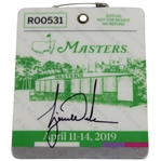 Tiger Woods Signed 2019 Masters Series Badge #R00531 JSA FULL #BB22208