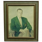 Bobby Jones Signed Personal Print on Board Portrait Gifted to Personal Assistant Jean Marshall JSA ALOA