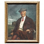 Charles Blair Macdonalds Personal 1929 Commissioned Oil on Canvas Painting by Albert Sterner
