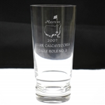2007 Masters Eagle Hole #2 Crystal Highball Glass Awarded to Mark Calcavecchia
