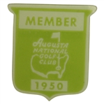 1950 Augusta National Golf Club Member Badge - Great Condition
