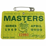 1969 Masters Tournament SERIES Badge #12993 - George Archer Winner