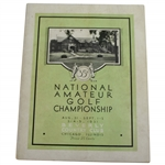1931 US Amateur at Beverly Country Club Official Program - Francis Ouimet Winner