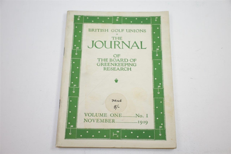 1929, 1930, & 1931 The Journal of the Board of Greenkeeping Research Golf Booklets