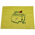 Jose Maria Olazabal Signed 2003 Masters Embroidered Flag JSA #P94948
