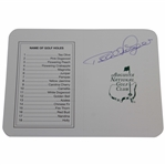Bernhard Langer Signed Augusta National Golf Club Scorecard JSA ALOA