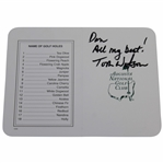 Tom Watson Signed Augusta National Golf Club Scorecard - Personalized JSA ALOA