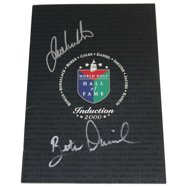 Julie Inkster & Beth Daniel Signed 2000 World Golf Hall of Fame Program JSA ALOA
