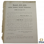 1901 Jubilee Amateur Scratch Competition at Lanark Golf Club Notice