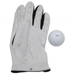 Tiger Woods Tournament Used Nike TW Left-Handed Golf Glove & Personal Marked Golf Ball