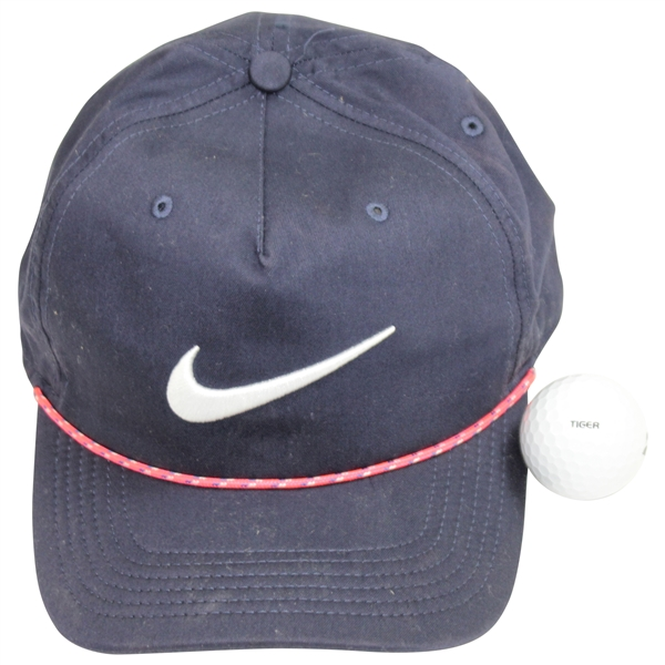 Tiger Woods Gifted Nike Hat & Tiger Bridgestone 1 Golf Ball