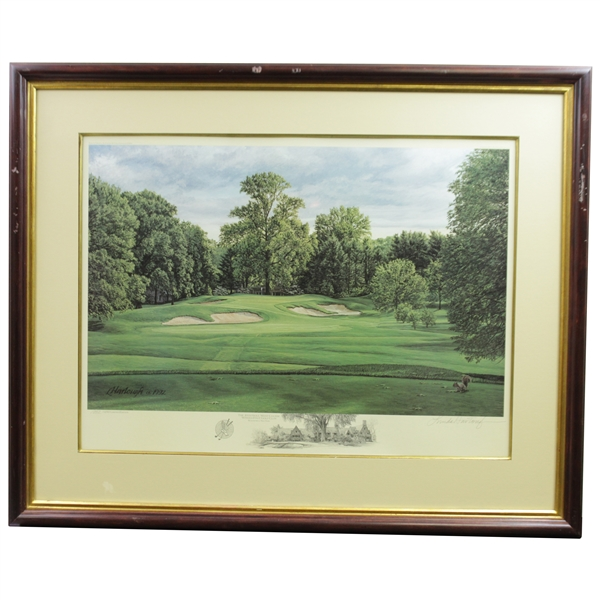 1992 Linda Hartough Signed Ltd Ed 10th Hole at Winged Foot 1052/1250 - Framed
