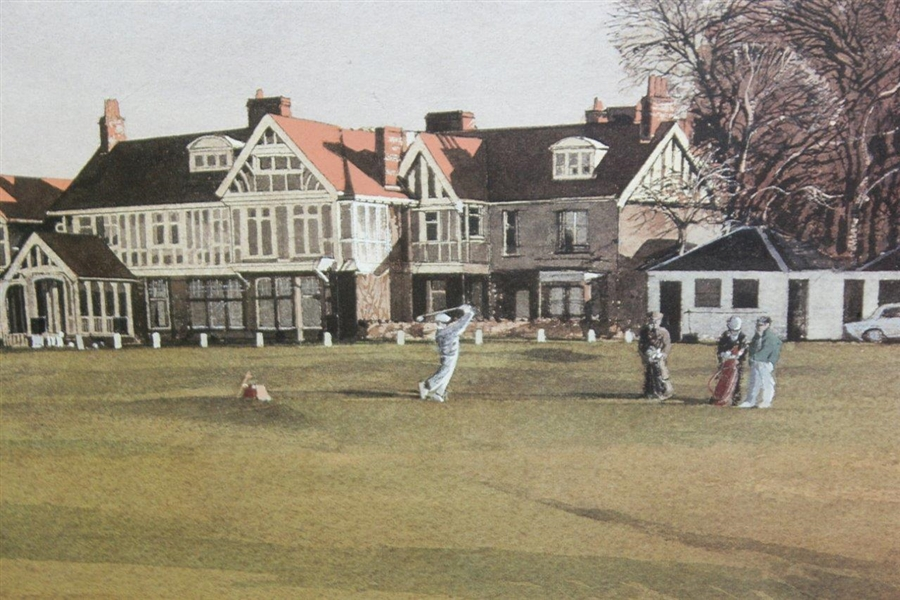 Kenneth Reed Signed Ltd Ed Muirfield Clubhouse 37/850 Print - Framed