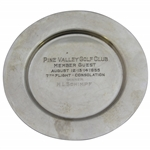 1955 Pine Valley Golf Club Member Guest 7th Flight Consolation Winner Sterling Plate - H.L. Schimpf