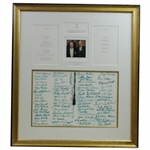 Multi-Signed Augusta National GC 1994 100th Birthday Celebration Dinner Menu for Ike Grainger & Joe Bryan