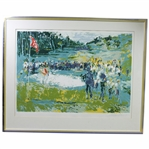 1974 Ltd Ed Serigraph on Paper Tournament Golf #4/300 Signed by Artist LeRoy Neiman
