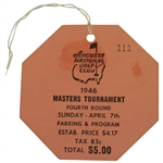 1946 Masters Tournament FINAL Rd Sunday Ticket #111 - Low Number