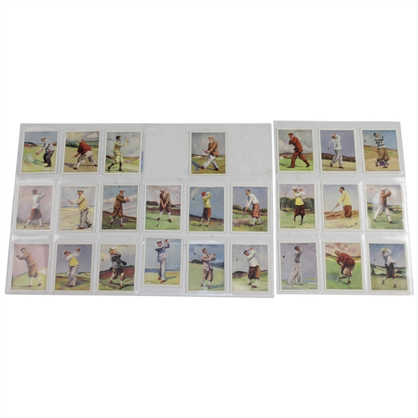 1930 W.D. & H.O. Wills Famous Golfers Complete Set of 25 Golf Cards