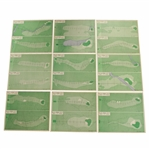 "1966 Augusta National Golf Club ""The Masters"" APBA Golf Game 18 Cards 1 Per Hole Set No. 18M64"
