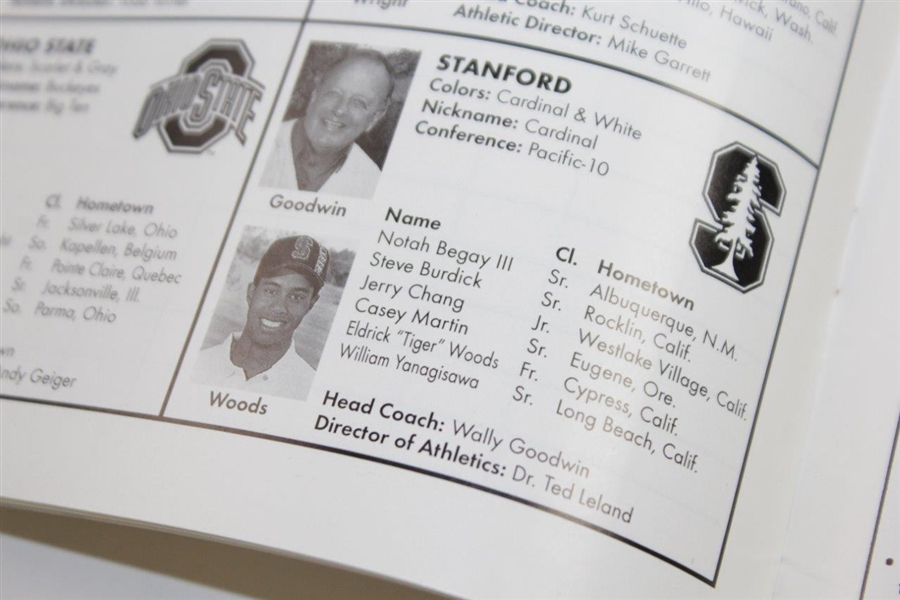 1995 NCAA Golf Championship Official Tournament Program - Woods on Stanford