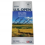 Brooks Koepka Signed 2017 US Open at Erin Hills Sunday Final Rd Ticket JSA ALOA