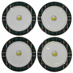 2020 Masters Tournament Home Collection Tartan Cocktail Plates in Original Box - Four