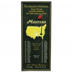 1992 Augusta National Golf Club 56th Playing of Masters Wood Plaque - Fred Couples Winner