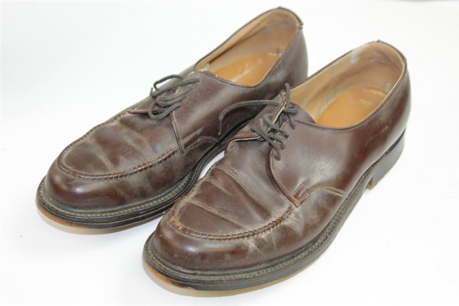 Pair of Vintage 'Tommy Armour' EJ Golf Shoes with Replacement Spikes in Original Box & Receipt