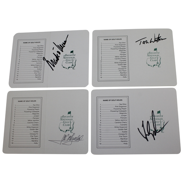 Tom Watson, Olazabal, O'Meara, & Couples Signed Augusta National GC Scorecards JSA ALOA