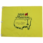 Tommy Aaron Signed 2020 Masters Flag with Nov Masters Inscription JSA ALOA