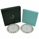 Two 2016 Augusta National Masters Tournament Tiffany & Co. Beautification Plates in Original Boxes