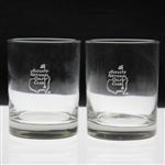 Pair of Augusta National Golf Club Whiskey Rocks Glasses