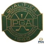 1940 PGA Championship at Hershey CC Contestant Badge - Byron Nelson Winner