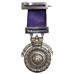 Vintage 1927 Sterling Silver Royal Perth Pitfour Medal with Ribbon & Bar