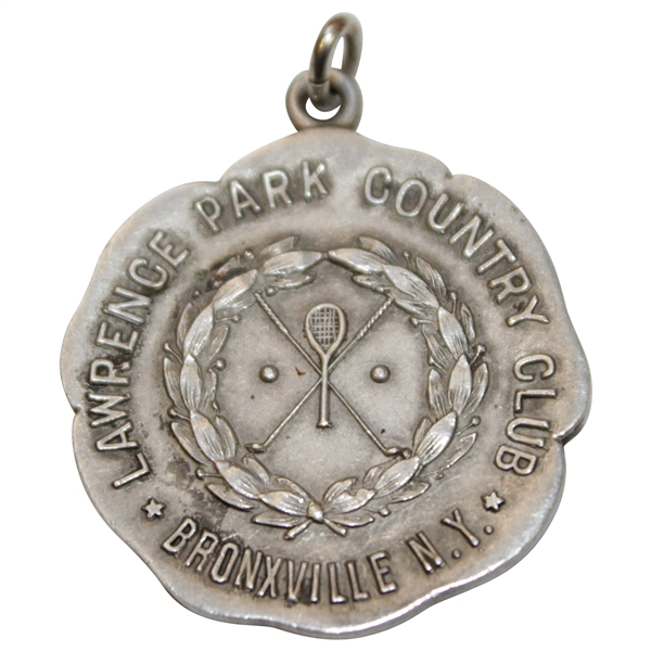 Vintage Lawrence Park Country Club Sterling Silver Medal with Decorative Disc