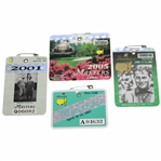 1997, 2001, 2002, & 2005 Masters Tournament SERIES Badge - Tiger Wins Victories