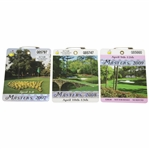 2007, 2008, & 2009 Masters Tournament SERIES Badges - Johnson, Immelman, & Cabrera
