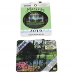 2006 & 2010 Masters Tournament SERIES Badges - Phil Mickelson Winner