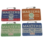 1976, 1977, 1978, & 1979 Masters Tournament SERIES Badges - Floyd, Watson, Player, & Zoeller Winners