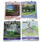 2015, 2016, 2017, & 2018 Masters Tournament SERIES Badges - Spieth, Willett, Garcia, & Reed Winners