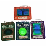 1991, 1992, 1993, & 1994 Masters Tournament SERIES Badges - Woosnam, Couples, Langer, & Olazabal Winners