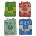 1980, 1981, 1982, & 1983 Masters Tournament SERIES Badges - Ballesteros(x2), Watson, & Stadler Winners