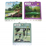 2012, 2013, & 2014 Masters Tournament SERIES Badges - Watson, Scott, & Watson