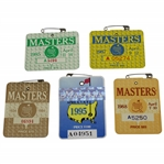 1984-85, 1987-88, & 1995 Masters Tournament SERIES Badges - Crenshaw (x2), Langer, Mize & Lyle