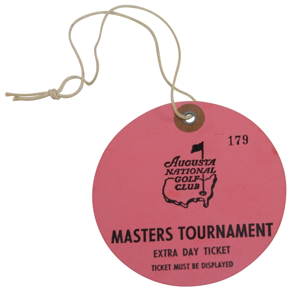 Circa 1970's Masters Tournament 'Extra Day' Ticket #179 - First Time We've Had One Of These!