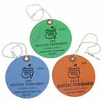 1975, 1982, & 1983 Masters Tournament Practice Round Tickets - Nicklaus, Stadler, & Ballesteros Winners