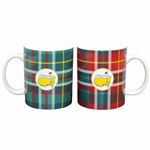 Two Masters Home Collection 16oz Tartan Design Coffee Mugs in Original Box - New