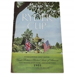 1953 Official Ryder Cup at Wentworth Golf Club Program