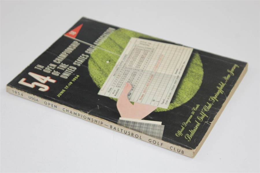1954 US Open Championship at Baltusrol Golf Club Official Program